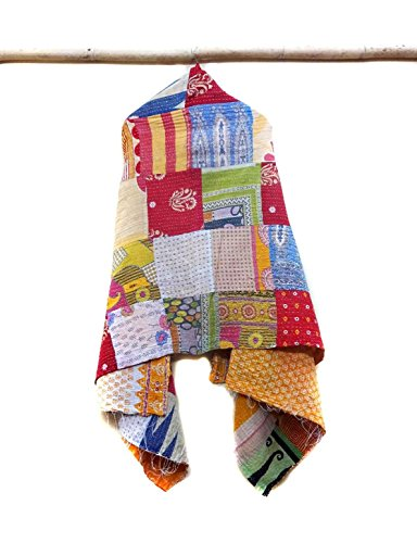 Kantha Cotton Scarf Tie Dye Stole Shawls Handmade Reversible Wrap Indian Scarves patchwork