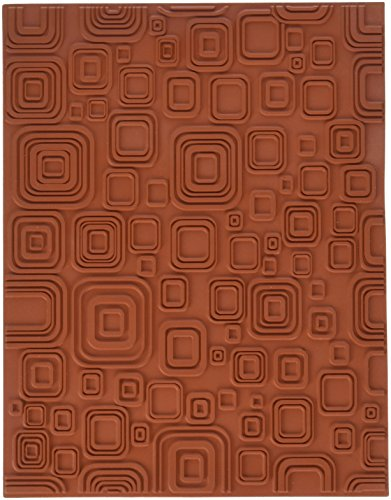 Mayco MT005E Retro Squares Designer-Texture Mat, Rubber, 7