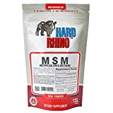 Hard Rhino MSM (Methylsulfonylmethane) Powder, 125 Grams (4.4 Oz), Unflavored, Lab-Tested, Scoop Included Review