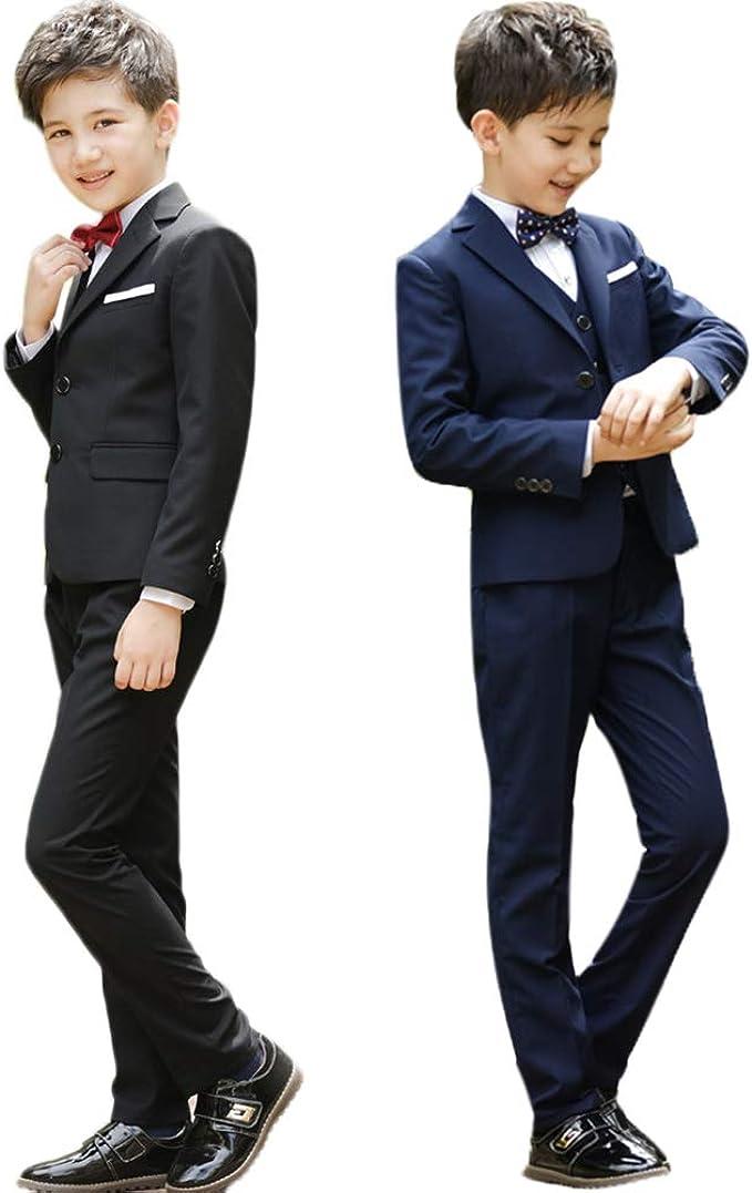 Pants Gentleman Party Outfits Set Kids Boys Tops Dress Shirt Blazer Coat