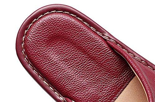 Pavimenti Interni Pelle Pantofole Neri Coppie Primavera In Anti Estate Uomo Ed Anti Autunno skid Uomini Donna Casa odore Tellw 1wPq7fx