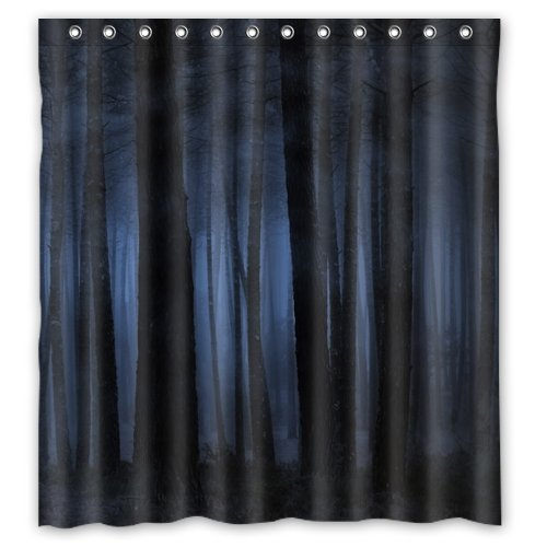 "O! My Pillow Dark Gothic Design Resistant Waterproof Bathroom Fabric Shower Curtain 66""(W) x 72""(H)"