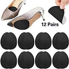 Features: Durable and non-skid: These non-skid shoe pads work great as stickers, with fine stickiness, they can be stuck on your shoe sole firmly, and not easy to slip when you're walking, dancing, running, just peel off the film and stick th...