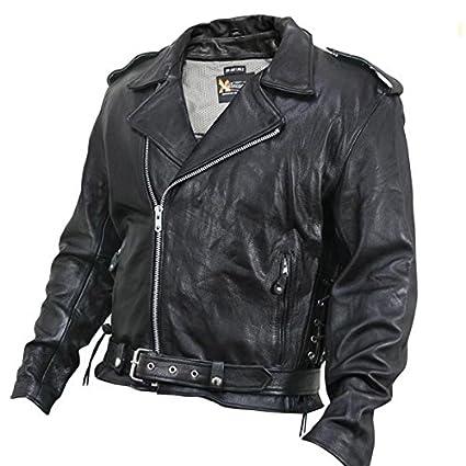 Amazon Com Xelement Xs5890 Classic Mens Black Leather Jacket 2x