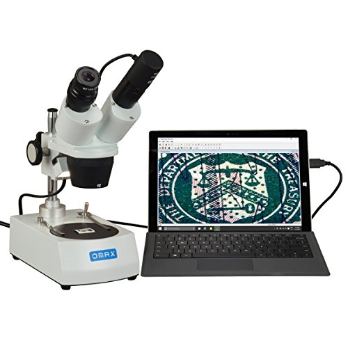 OMAX 10X-20X-30X-60X Binocular Student Stereo Microscope with USB Camera by OMAX