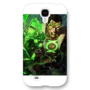 UniqueBox Green Lantern Custom Phone Case for Samsung Galaxy S4, DC comics Green Lantern Customized Samsung Galaxy S4 Case, Only Fit for Samsung Galaxy S4 (White Frosted Shell)