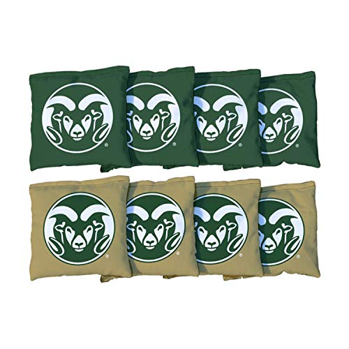 - Victory Tailgate NCAA Collegiate Regulation Cornhole Game Bag Set (8 Bags Included, Corn-Filled) - Colorado State Rams