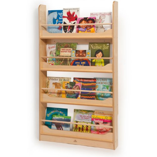 Wall Mount Book Shelf in Natural UV Finish