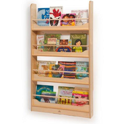 Wall Mount Book Shelf in Natural UV Finish (Kids Wall Mount Bookshelf)
