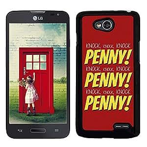 Funda carcasa para LG L90 diseño the big bang theory PENNY! borde negro