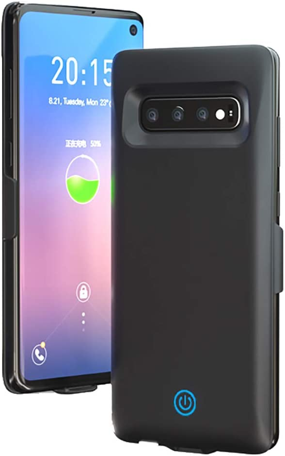 Battery Case for Galaxy S10 HONTECH Galaxy S10 Battery Case 7000mAh Portable Charger Rechargeable Portable Charging Protective Cover Green