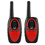 QTKJ 4 Packs Walkie Talkies Kids 22-Channel Two Way Radios GMRS Walky Talky 3KM high Long Range Toy