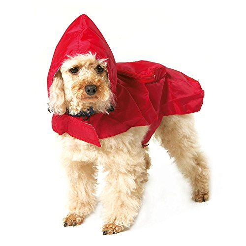 S-Lifeeling Waterproof Pet Raincoat Packable Dog Raincoat Outdoor Rainwear Jacket Clothes 5 Size for Small Medium Dogs, Large (Homemade Puppy Costumes For Kids)