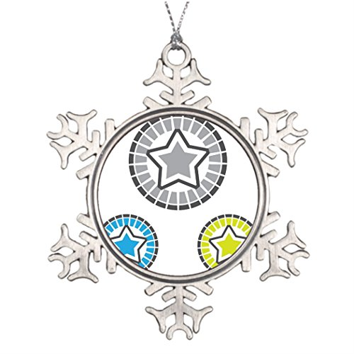 Dobend Xmas Trees Decorated Star vector Christmassnowflake Ornaments