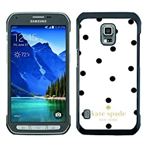 customized Samsung Galaxy S5 Active Case Cover, Fashion Stylish DIY Kate Spade 6 Black Case Cover For Samsung Galaxy S5 Active