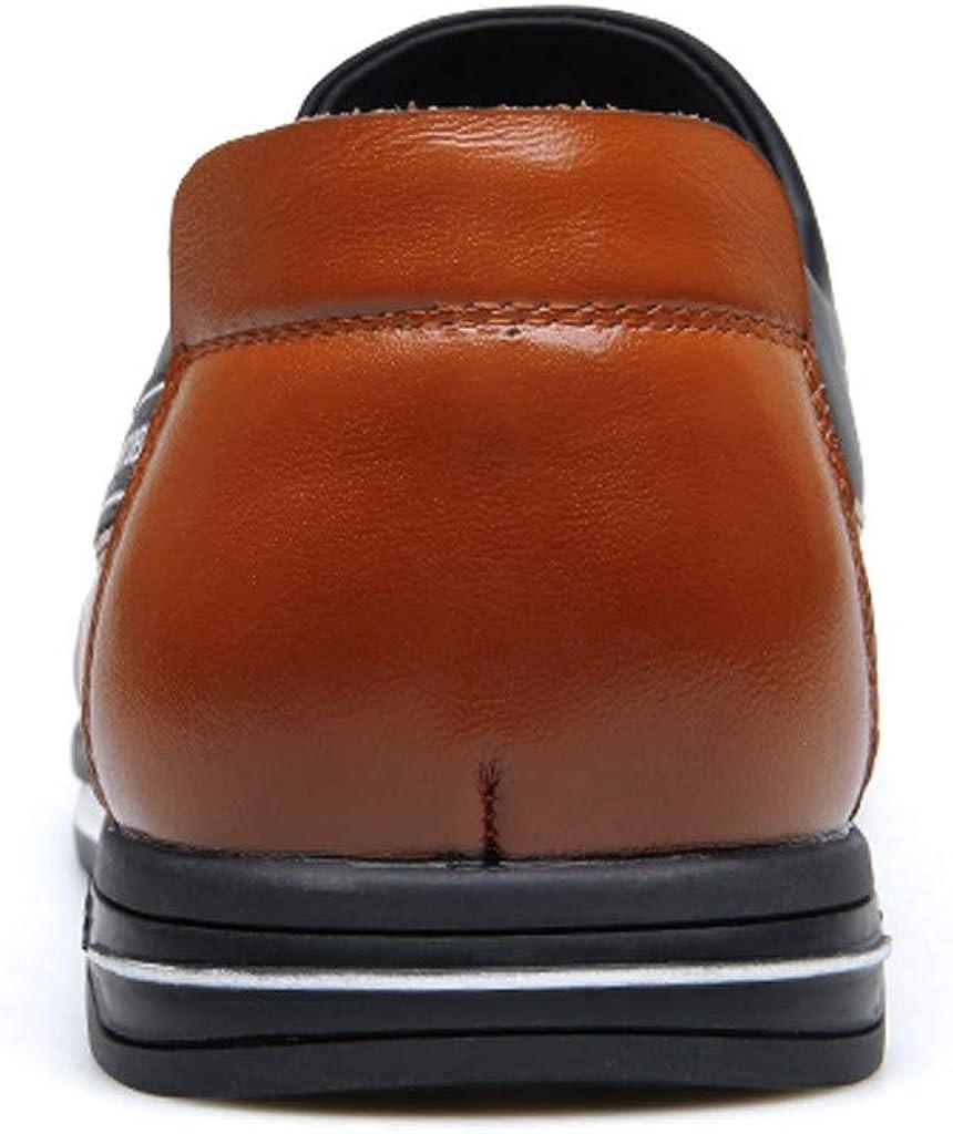 Vectry Homme Gentleman Confortable Mode Chaussures en Cuir De Style Britannique Randonnée en Plein Air Randonnée Trekking Casual Baskets Marron