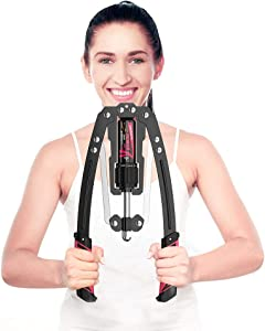 DEDAYL Adjustable Hydraulic Power Twister Arm Exerciser 22-440lbs, Men and Women Home Gym Chest Arm Muscle Shoulder Training Fitness Equipment Exercise Strengthener Grip Bar