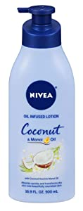 Nivea Lotion Coconut & Monoi Oil Infused 16.9 Ounce (500ml) (Pack of 3)