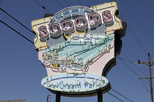 Photograph  Cool Scoops Ice Cream Parlor in Wildwood, New Jersey 1 Fine Art Photo Reproduction 44in x 30in