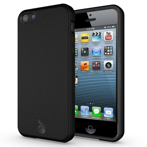 iPhone 5C Case, Diztronic Matte Back Black Flexible TPU Case for Apple iPhone 5C - Retail Packaging
