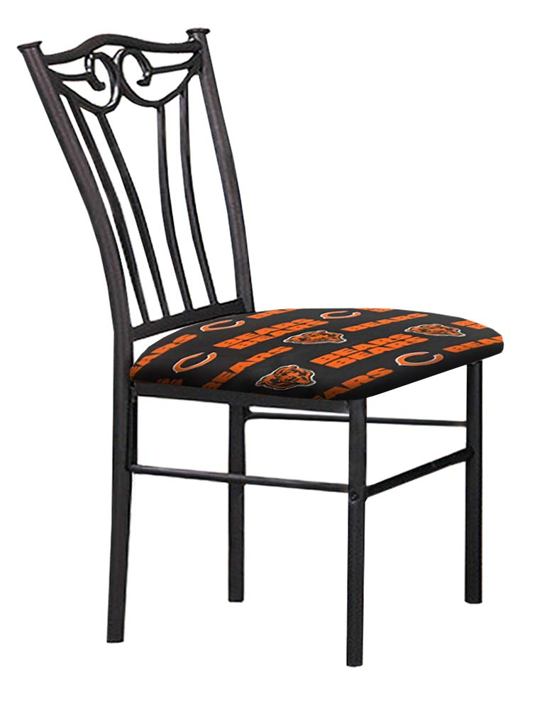 Amazon.com: Set de 2 sillas de comedor negro acabado metal ...