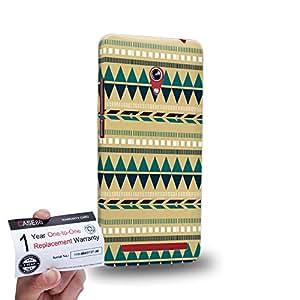 """Case88 [Asus Zenfone 6 6.0"""" A600CG] 3D impresa Carcasa/Funda dura para & Tarjeta de garantía - Art Carpet And Tapestry Aztec Carpet A"""