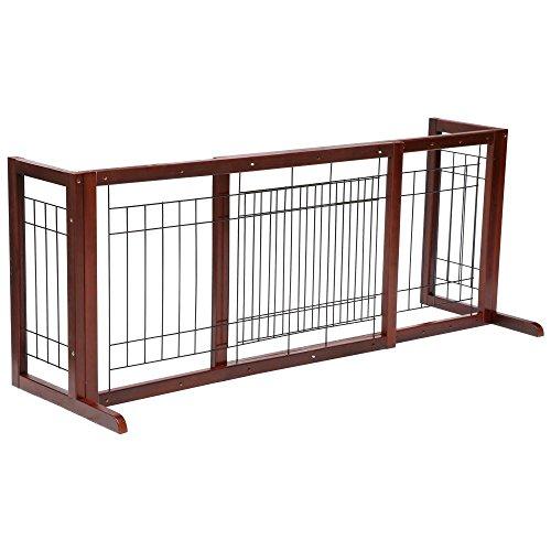 Topeakmart Freestanding Pet Gate Fence Adjustable Width
