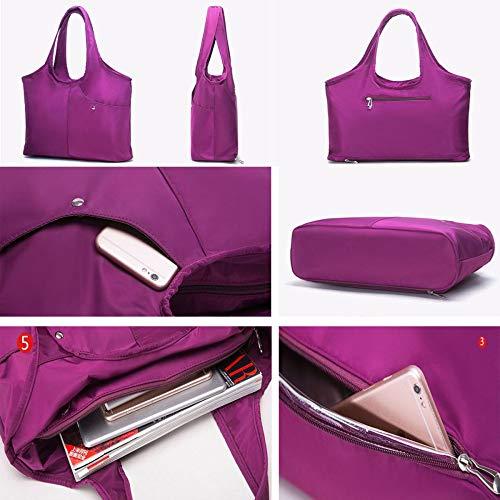 Capacité La Multifonctionnel De Tissu En À Grande Purple Étanche Mode Pour Oxford Sac Bandoulière Main Femme Femme 7g6Xxq7