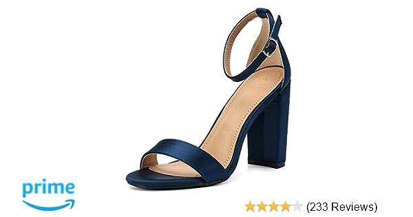 9fe30cf35e Moda Chics Women's High Chunky Block Heel Pump Dress Sandals