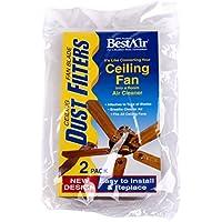 BestAir CF2, Ceiling Fan Dust Filter, 7.6 x 1.2 x 4.4, 6 pack