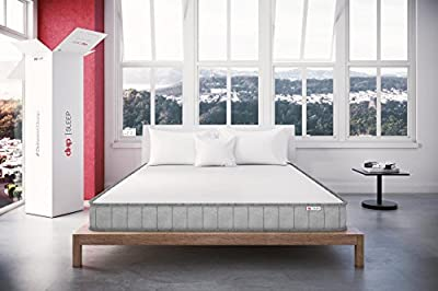 "DHP Sleep 6"" High Performance Coil Mattress with High Density CertiPUR-US Certified Foam, Full"