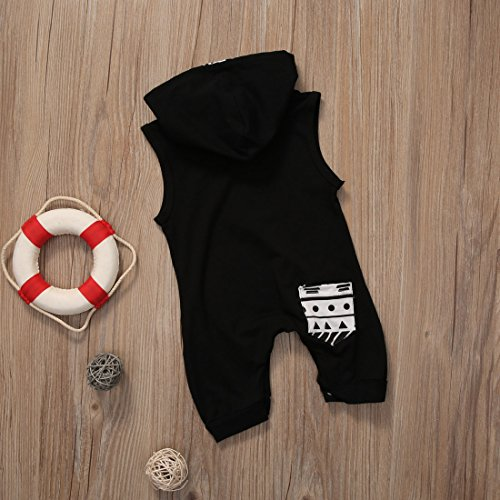 Infant Baby Girl Boys Hoodie Jumpsuit DON'T TOUCH THE HAIR Cotton Romper Toddler Clothes (100 (2-3Y), Black)