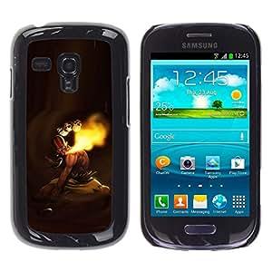 EJOY---Cubierta de la caja de protección la piel dura para el ** Samsung Galaxy S3 MINI 8190 ** --MK indio de combate