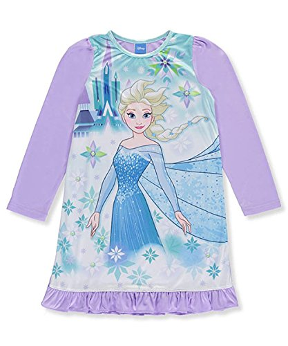 Disney Frozen Big GirlsIce Kingdom Nightgown Size 10