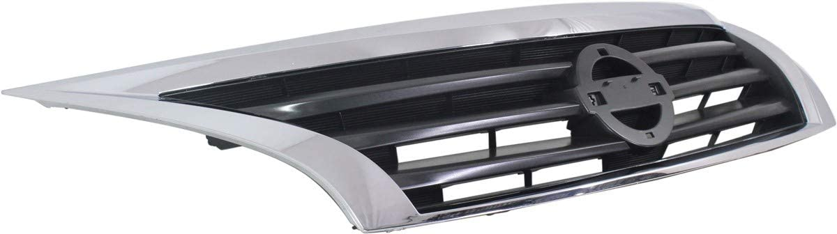 Grille Assembly Compatible with NISSAN ALTIMA 2013-2015 Chrome Shell with Black Insert Sedan