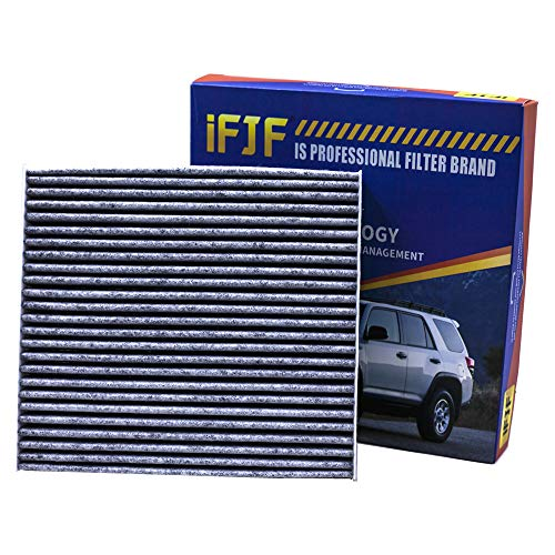 iFJF Cabin Air Filter CF10285 Includes Activated Carbon 87139-02090 for Toyota/Lexus/Scion/Subaru Premium against Bacteria Dust Viruses Pollen Gases Odors (Set of 1) ()