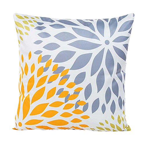 Bokeley Pillow Case, Rayon Square Geometry Pattern Decorative Throw Pillow Case Bed Home Decor Car Sofa Waist Cushion Cover (H)