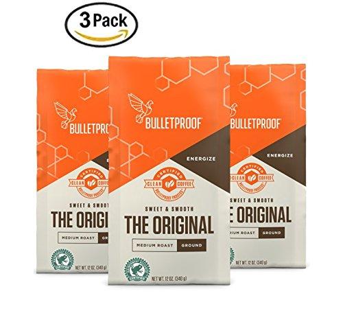 Bulletproof Coffee The Original roast, Ground, 12 ounce bags (3-pack)