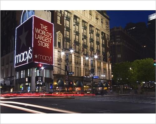 Photographic Print of Macy s Store in Midtown Manhattan, New York City, New York, United - New Manhattan Macy York In