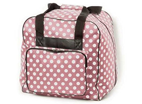 Hemline Dotty Serger Overlock Bag in Mauve Polka Dot