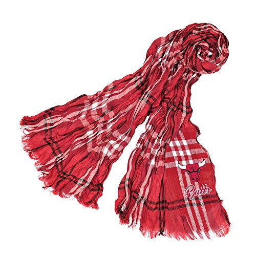 Littlearth NBA Chicago Bulls Plaid Crinkle Scarf by Littlearth