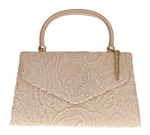 Girly Handbags - Cartera de mano para mujer - champán