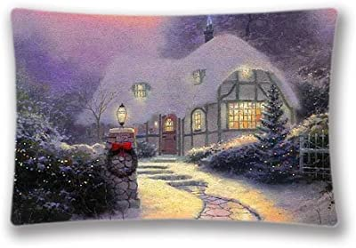 20x30inch(2 Sides)Xmas Stuff For Winter Christmas Scene Pillow Case Pillow Cover Decorations Home Pillow Sham Cover