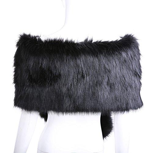Buy faux fur stole black