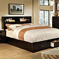 247SHOPATHOME IDF-7291EX-EK Platform-Beds, King, Espresso