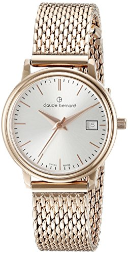 Claude Bernard Women's 54005 37RM AIR Classic Ladies Analog Display Swiss Quartz Rose Gold Watch
