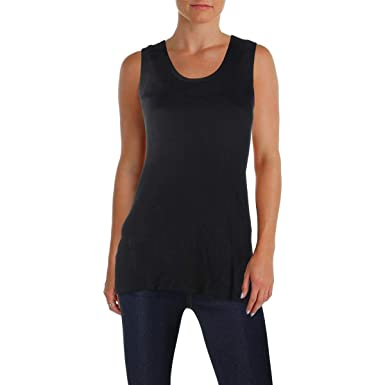 04454b4603e482 Image Unavailable. Image not available for. Color  Lafayette 148 New York  Womens Petites Ribbed Hi Low Tank Top ...
