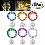 Lavince LED Fairy String Lights,[6 Set] 6.5foot MutilColor Waterproof String Lights Battery Operated with 20 Micro LEDs for Wedding Parties Bedroom Festival Decor