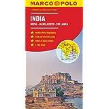 India, Nepal, Bhutan, Bangladesh, Sri Lanka Marco Polo Map
