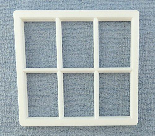Melody Jane Dolls House White Plastic Georgian Window Frame 6 Pane Miniature DIY (Plastic Dollhouses)